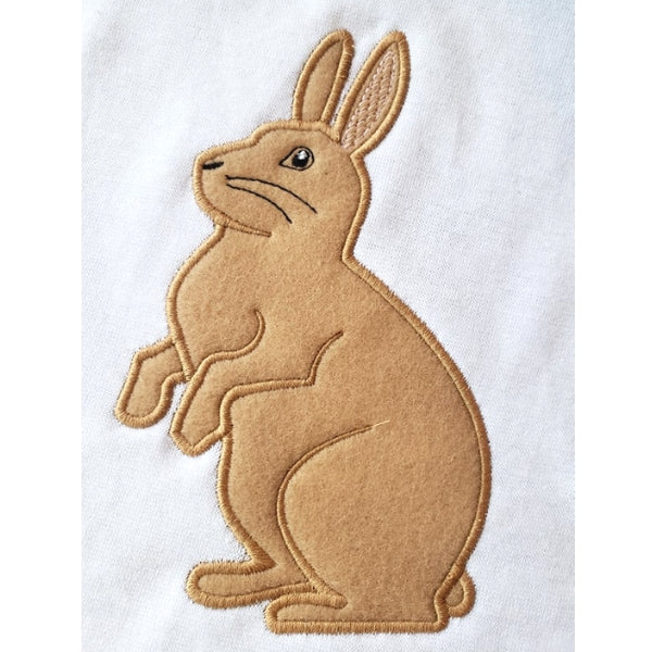 Standing Rabbit Snuggle Puppy Applique
