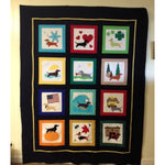 Year of Dachshunds raw edge fusible applique sewing quilt block pattern, snugglepuppyapplique.com