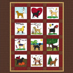Year of Labrador quilt block raw edge fusible applique sewing pattern, snugglepuppyapplique.com