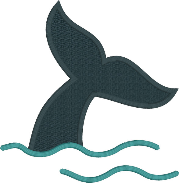 free whale's tail applique embroidery design, snugglepuppyapplique.com