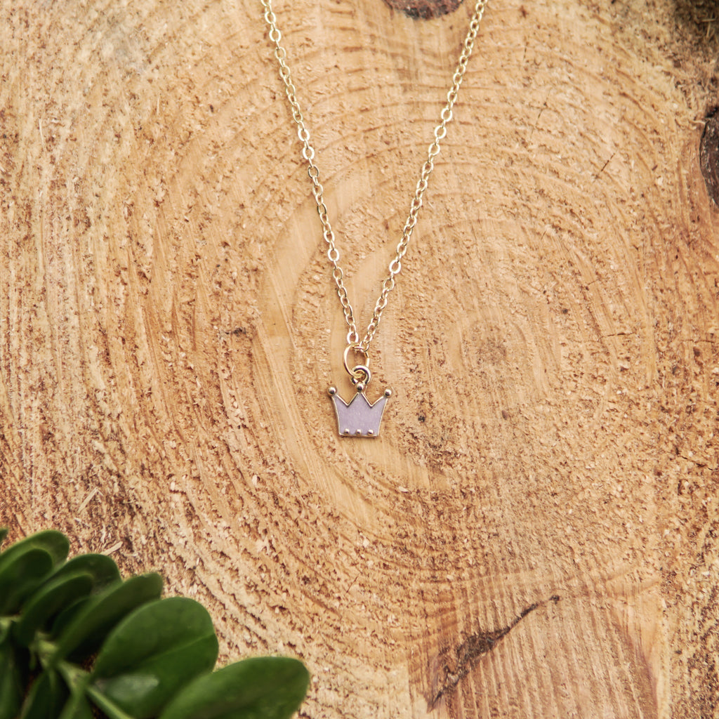 Light Purple Crown Necklace