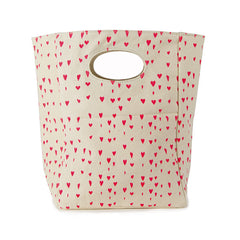 Organic Lunch Bag, Floating Hearts