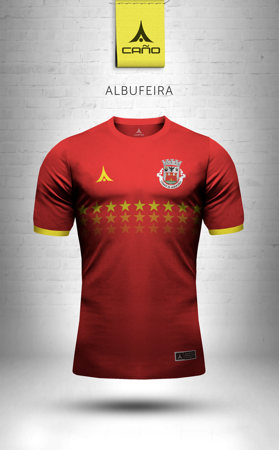 Albufeira in red/gold