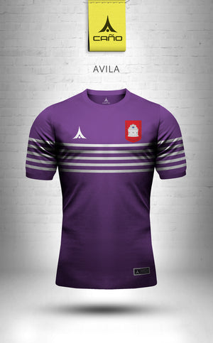 Avila in purple/white