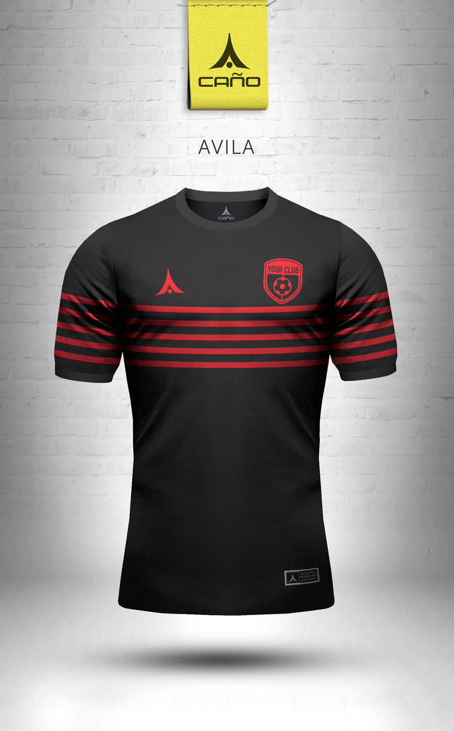 Avila in black/red
