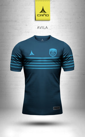 Avila in navy/light blue