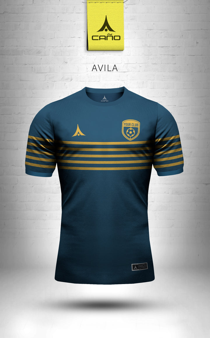 Avila in navy/gold