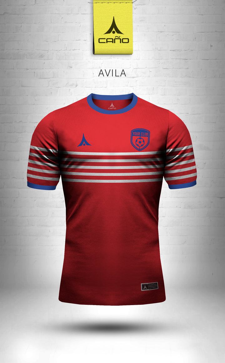 Avila in red/blue/white