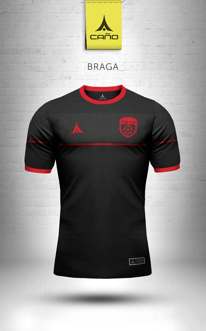Braga in black/red