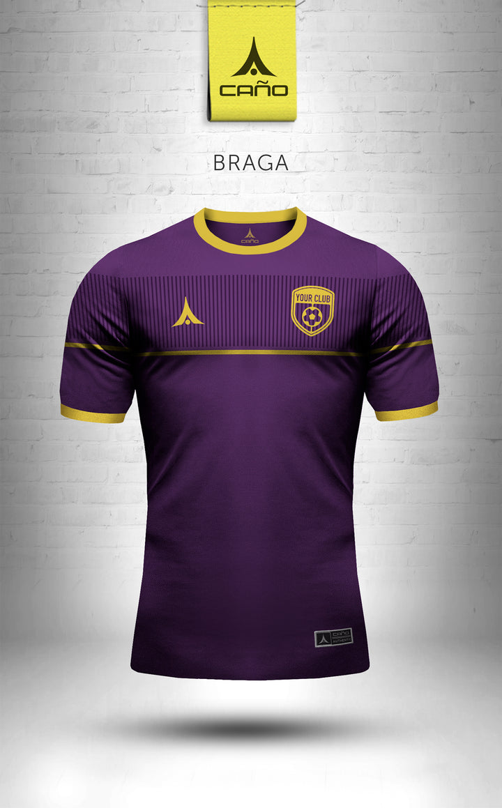 Braga in purple/gold