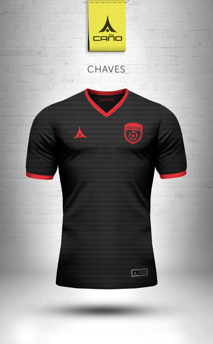Chaves in black/red
