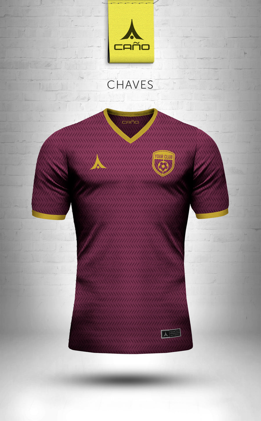Chaves in maroon/gold