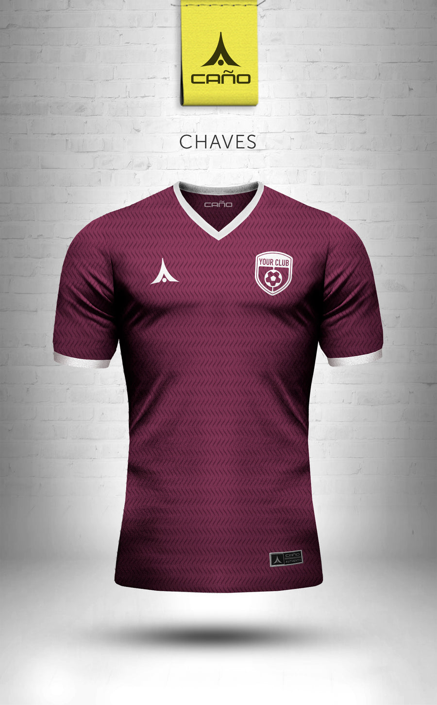 Chaves in maroon/white