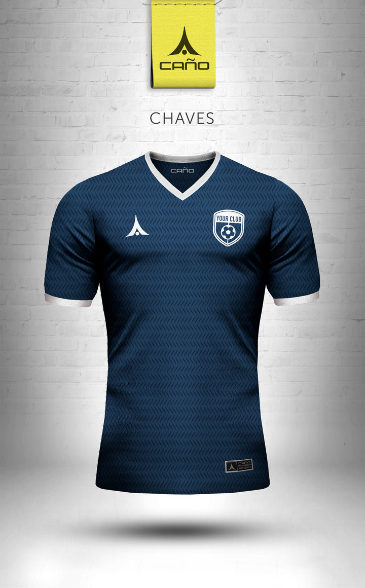 Chaves in navy/white