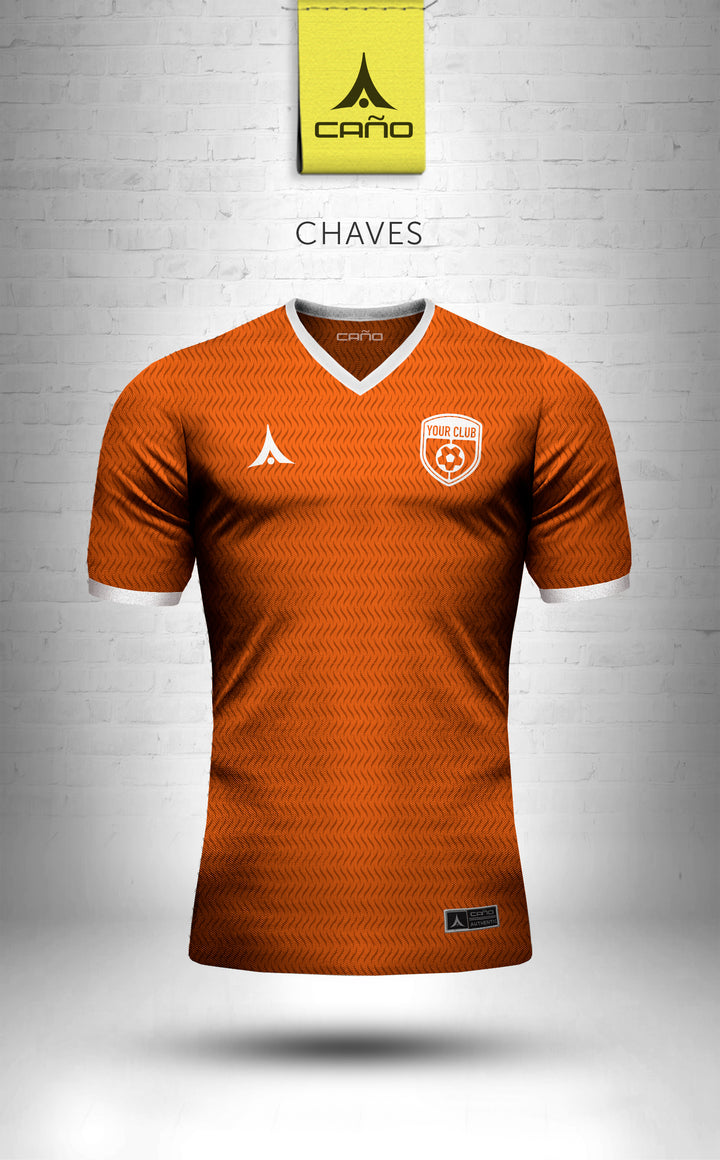 Chaves in orange/white
