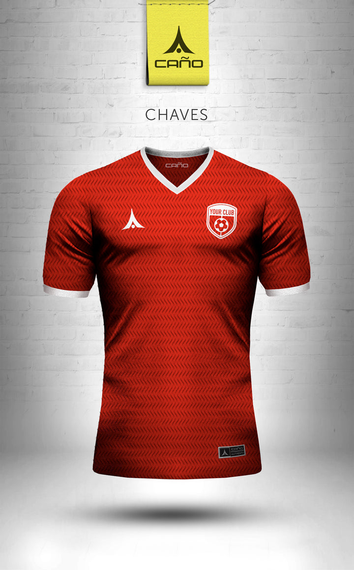 Chaves in red/white