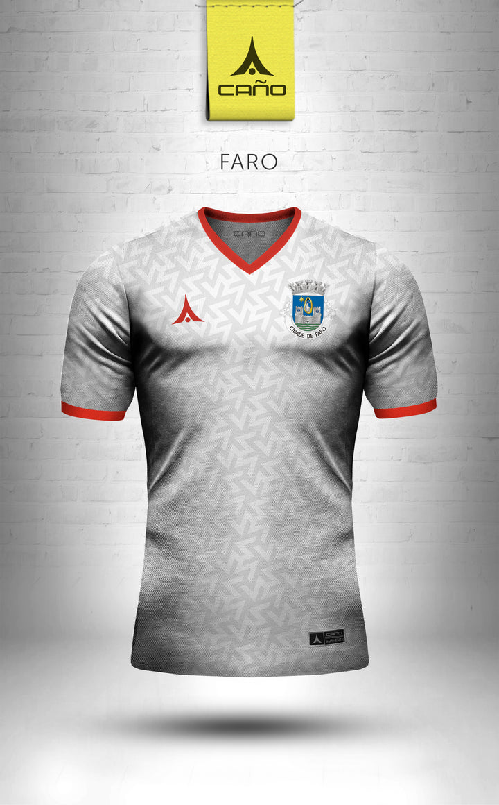 Faro in white/red