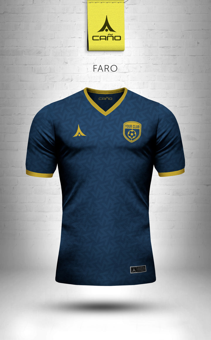 Faro in navy/gold