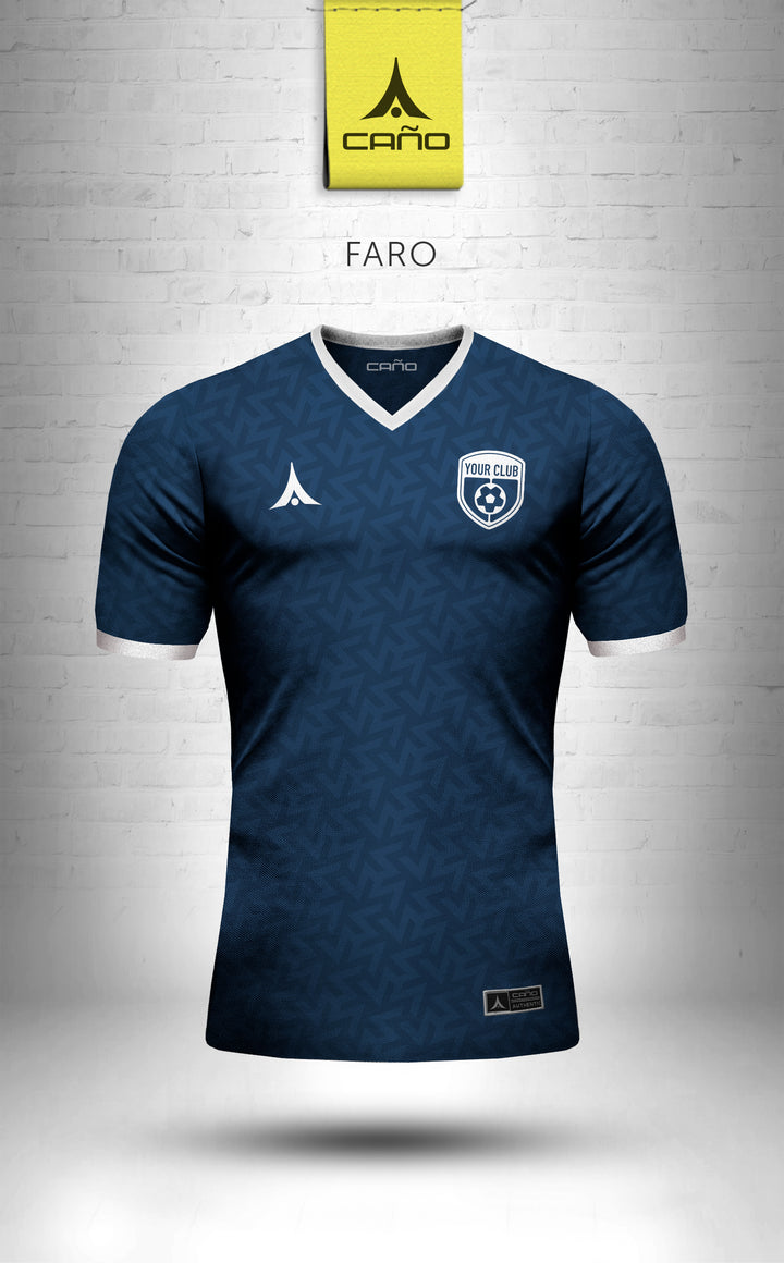 Faro in navy/white