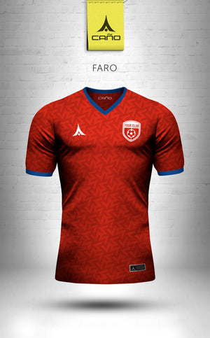 Faro in red/blue/white