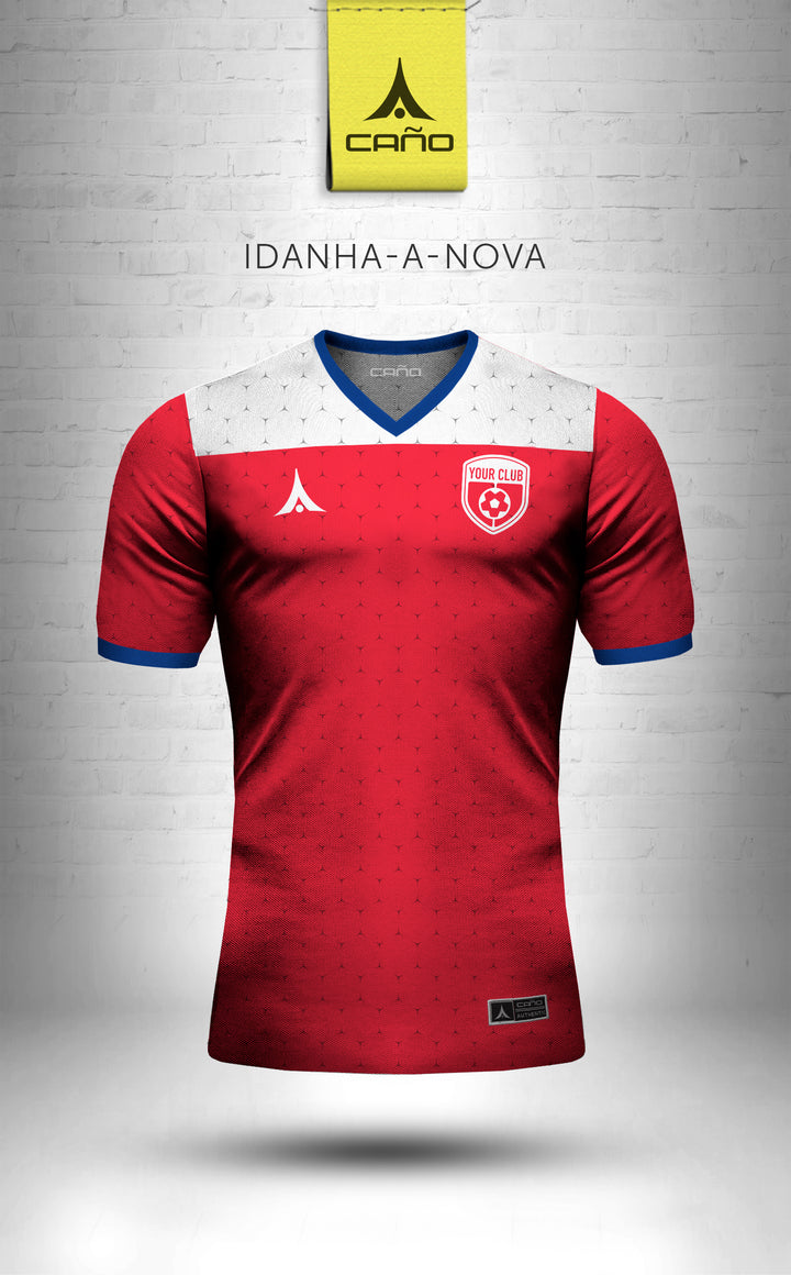 Idanha-a-Nova in red/blue/white