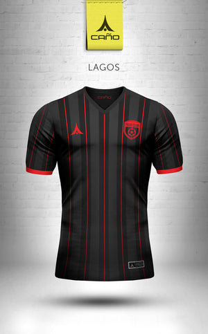Lagos in black/red