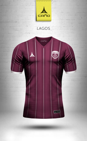 Lagos in maroon/white