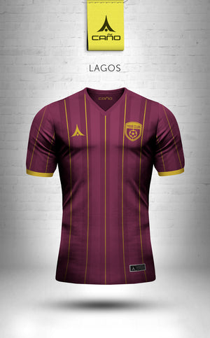 Lagos in maroon/gold