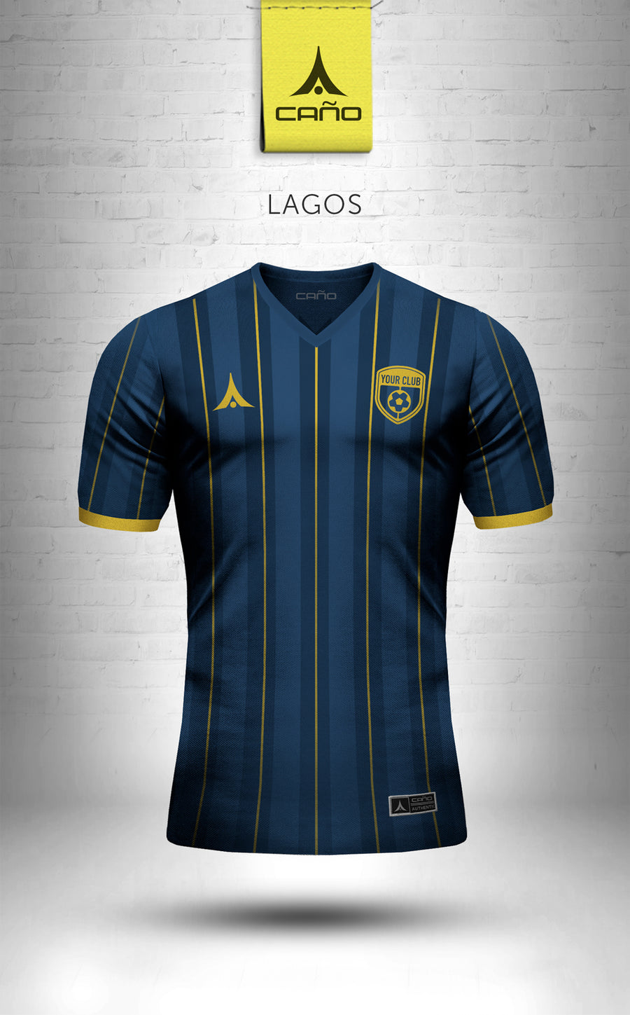 Lagos in navy/gold
