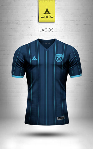 Lagos in navy/light blue