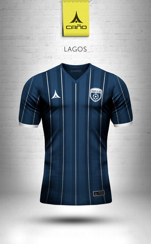 Lagos in navy/white