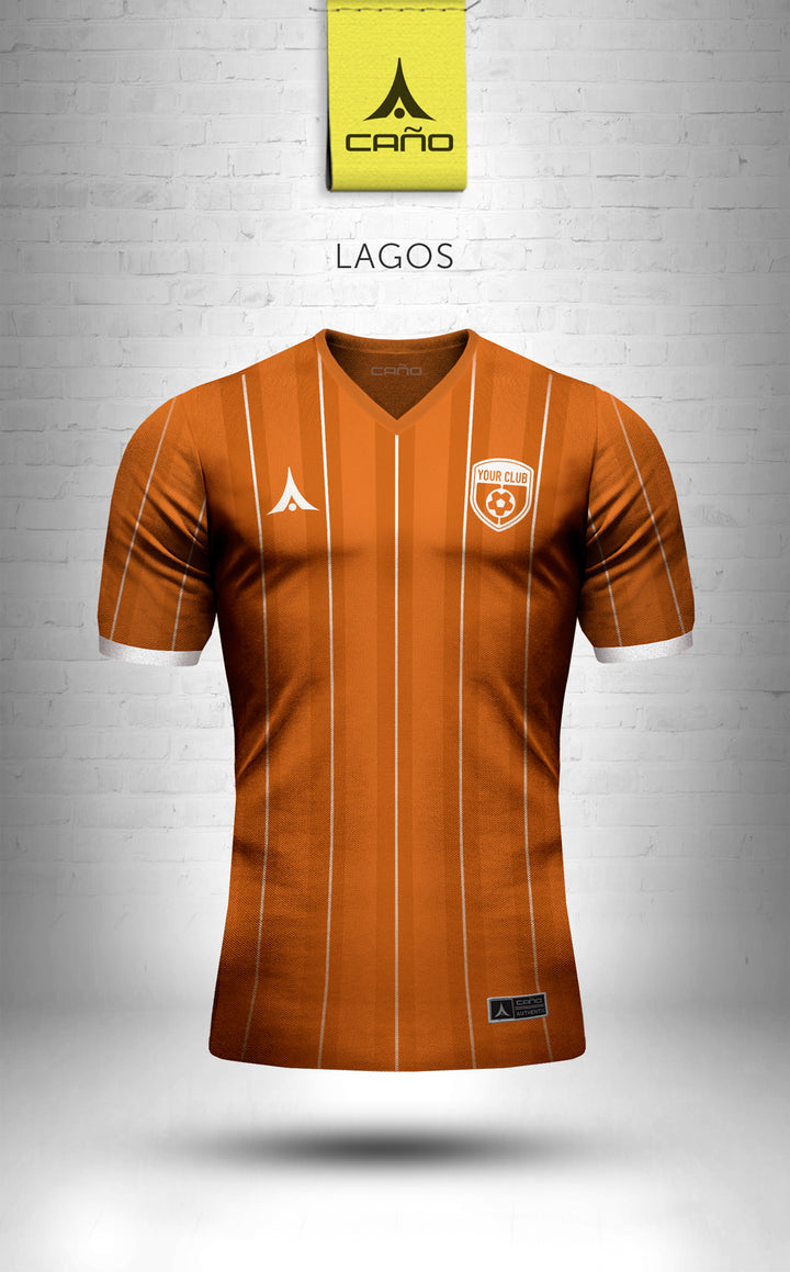 Lagos in orange/white