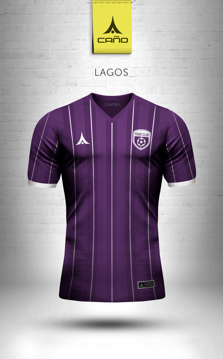 Lagos in purple/white