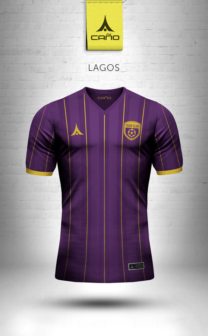 Lagos in purple/gold