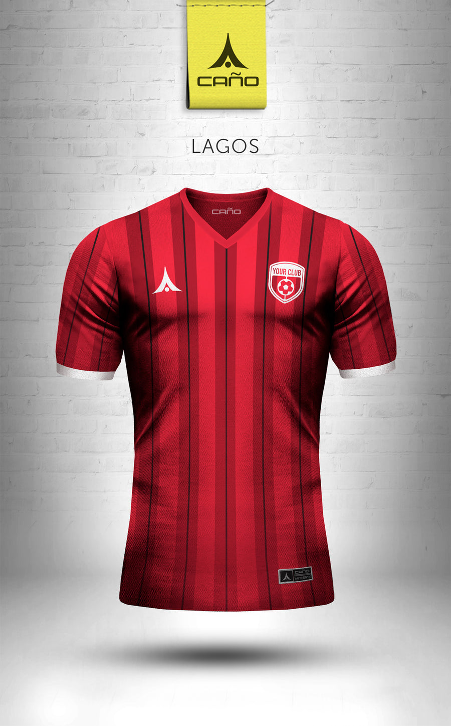 Lagos in red/black/white