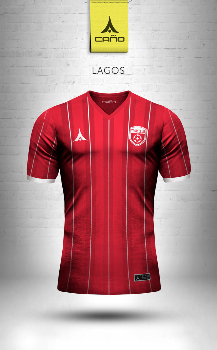Lagos in red/white
