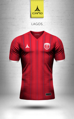 Lagos in red/blue/white