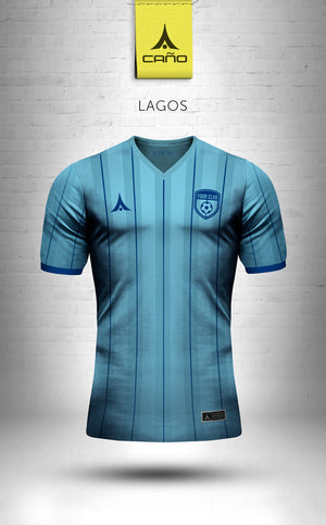 Lagos in light blue/blue