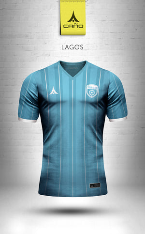 Lagos in light blue/white