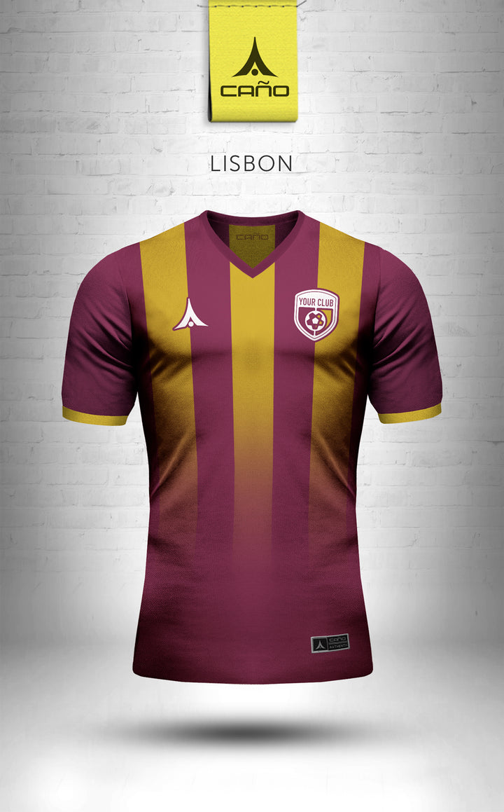 Lisbon in maroon/gold