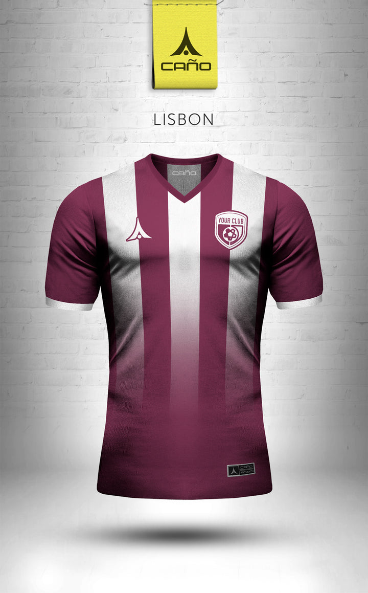 Lisbon in maroon/white