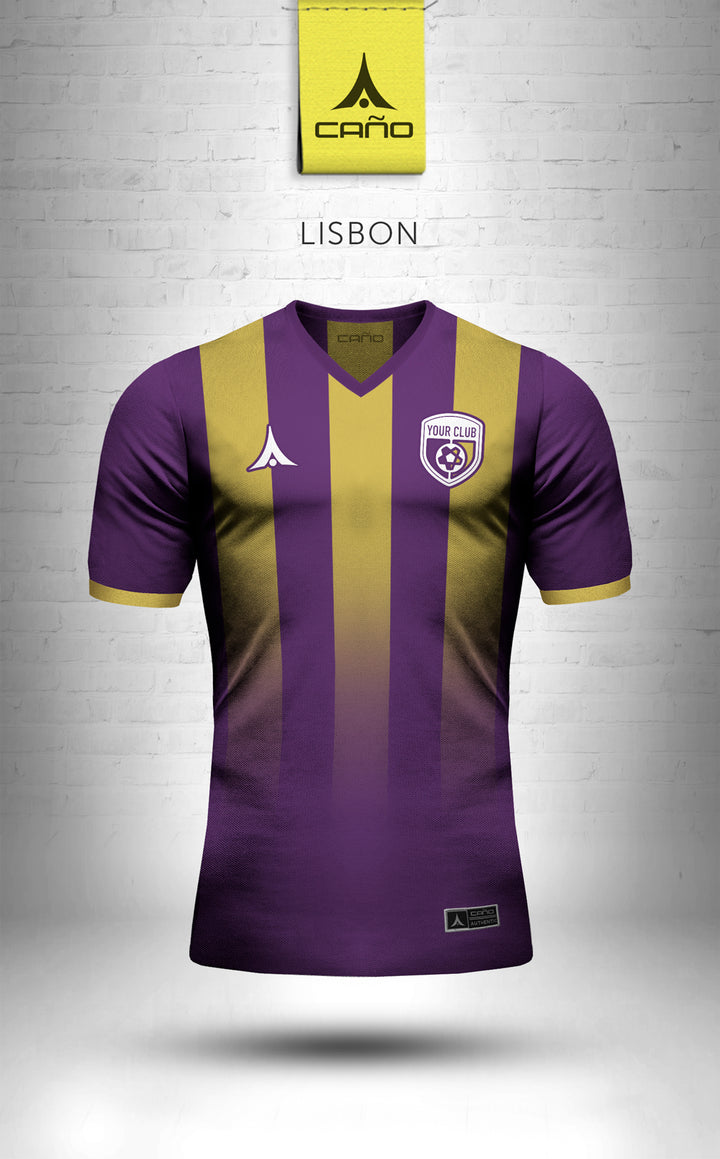 Lisbon in purple/gold