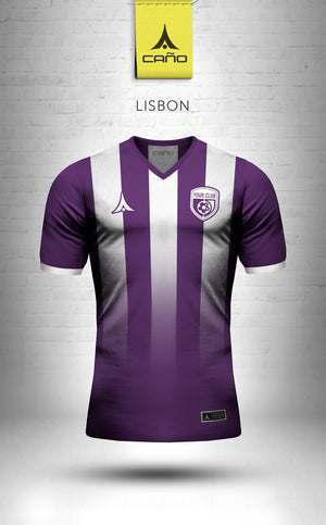 Lisbon in purple/white