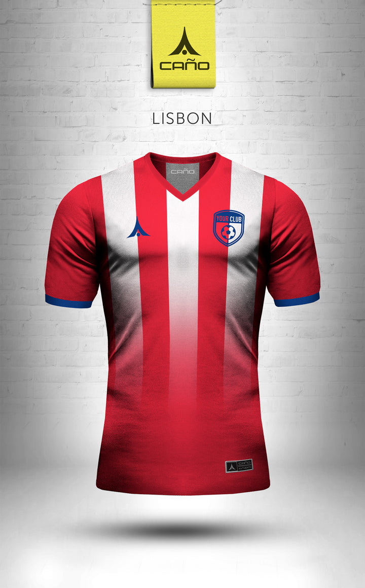 Lisbon in red/blue/white