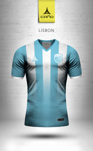 Lisbon in light blue/white
