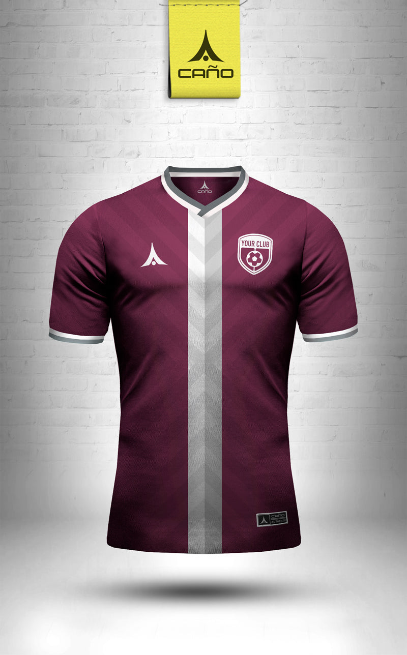Nice in maroon/white
