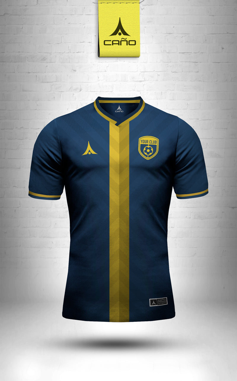 Nice in navy/gold