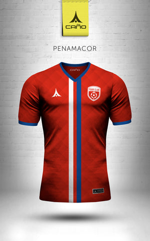 Penamacor in red/white/blue