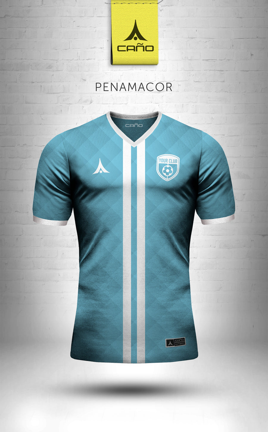 Penamacor in light blue/white