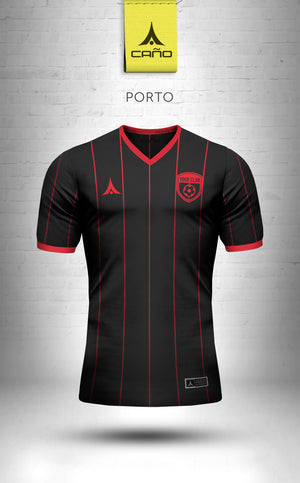 Porto in black/red